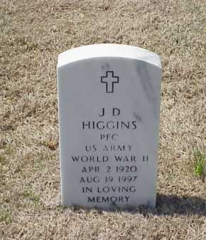 HIGGINS (VETERAN WWII), J D - Pulaski County, Arkansas | J D HIGGINS (VETERAN WWII) - Arkansas Gravestone Photos