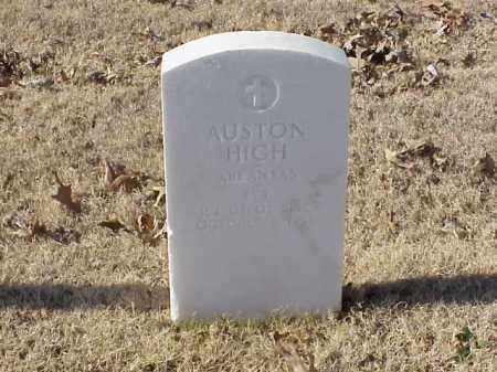 HIGH  (VETERAN WWI), AUSTON - Pulaski County, Arkansas   AUSTON HIGH  (VETERAN WWI) - Arkansas Gravestone Photos