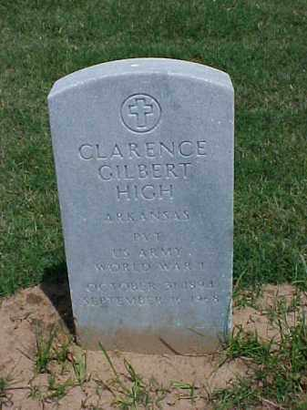HIGH (VETERAN WWI), CLARENCE GILBERT - Pulaski County, Arkansas | CLARENCE GILBERT HIGH (VETERAN WWI) - Arkansas Gravestone Photos