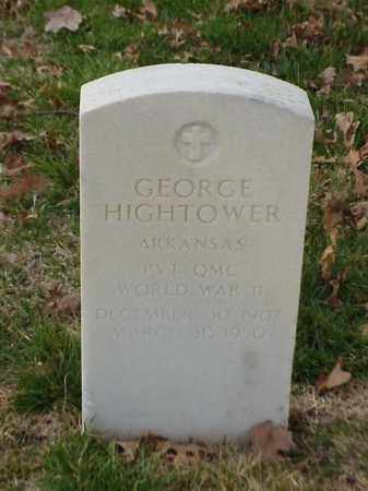 HIGHTOWER  (VETERAN WWII), GEORGE - Pulaski County, Arkansas | GEORGE HIGHTOWER  (VETERAN WWII) - Arkansas Gravestone Photos