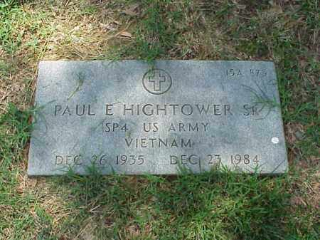 HIGHTOWER, SR (VETERAN VIET), PAUL E - Pulaski County, Arkansas | PAUL E HIGHTOWER, SR (VETERAN VIET) - Arkansas Gravestone Photos
