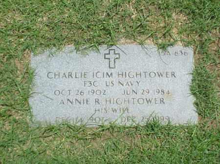 HIGHTOWER (VETERAN WWI), CHARLIE ICIM - Pulaski County, Arkansas | CHARLIE ICIM HIGHTOWER (VETERAN WWI) - Arkansas Gravestone Photos