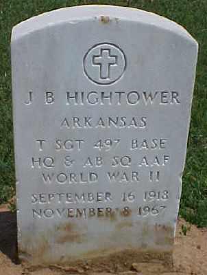 HIGHTOWER (VETERAN WWII), J B - Pulaski County, Arkansas | J B HIGHTOWER (VETERAN WWII) - Arkansas Gravestone Photos
