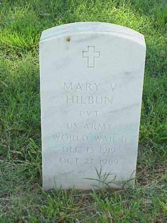 HILBUN (VETERAN WWII), MARY V - Pulaski County, Arkansas | MARY V HILBUN (VETERAN WWII) - Arkansas Gravestone Photos