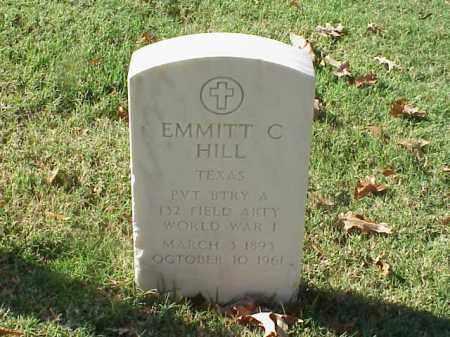 HILL  (VETERAN WWI), EMMITT C - Pulaski County, Arkansas | EMMITT C HILL  (VETERAN WWI) - Arkansas Gravestone Photos