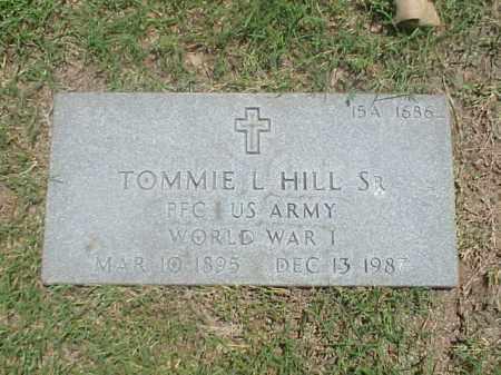 HILL, SR (VETERAN WWI), TOMMIE L - Pulaski County, Arkansas | TOMMIE L HILL, SR (VETERAN WWI) - Arkansas Gravestone Photos