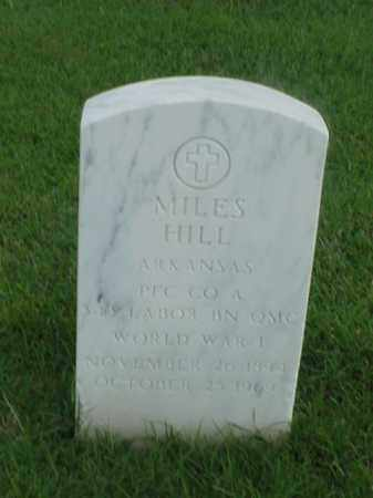 HILL (VETERAN WWI), MILES - Pulaski County, Arkansas   MILES HILL (VETERAN WWI) - Arkansas Gravestone Photos