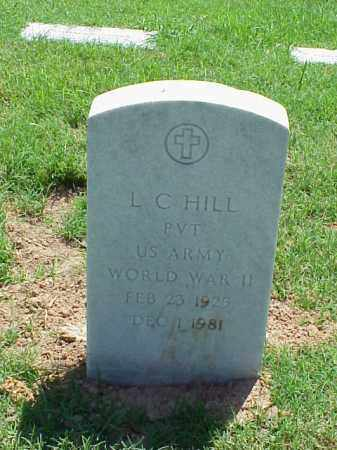 HILL (VETERAN WWII), L C - Pulaski County, Arkansas | L C HILL (VETERAN WWII) - Arkansas Gravestone Photos