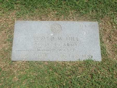 HILL (VETERAN WWII), LLOYD W - Pulaski County, Arkansas | LLOYD W HILL (VETERAN WWII) - Arkansas Gravestone Photos
