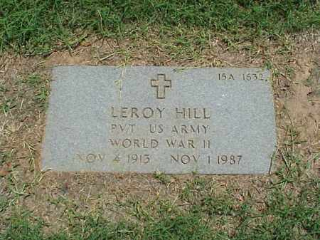 HILL (VETERAN WWII), LEROY - Pulaski County, Arkansas | LEROY HILL (VETERAN WWII) - Arkansas Gravestone Photos