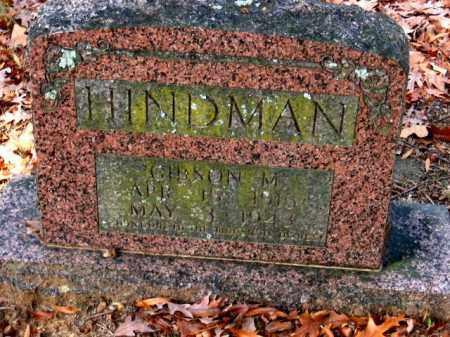 HINDMAN, GIBSON M. - Pulaski County, Arkansas | GIBSON M. HINDMAN - Arkansas Gravestone Photos