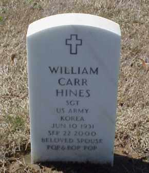 HINES (VETERAN KOR), WILLIAM CARR - Pulaski County, Arkansas | WILLIAM CARR HINES (VETERAN KOR) - Arkansas Gravestone Photos