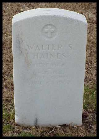 HAINES (VETERAN), WALTER S - Pulaski County, Arkansas   WALTER S HAINES (VETERAN) - Arkansas Gravestone Photos