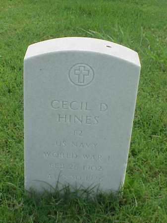 HINES (VETERAN WWI), CECIL D - Pulaski County, Arkansas   CECIL D HINES (VETERAN WWI) - Arkansas Gravestone Photos