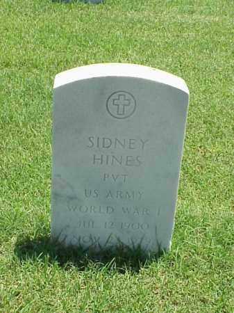 HINES (VETERAN WWI), SIDNEY - Pulaski County, Arkansas | SIDNEY HINES (VETERAN WWI) - Arkansas Gravestone Photos