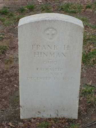 HINMAN (VETERAN), FRANK H - Pulaski County, Arkansas | FRANK H HINMAN (VETERAN) - Arkansas Gravestone Photos