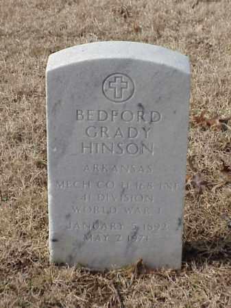 HINSON  (VETERAN WWI), BEDFORD GRADY - Pulaski County, Arkansas | BEDFORD GRADY HINSON  (VETERAN WWI) - Arkansas Gravestone Photos