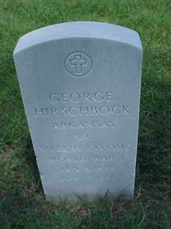HIRSCHBOCK (VETERAN WWI), GEORGE - Pulaski County, Arkansas   GEORGE HIRSCHBOCK (VETERAN WWI) - Arkansas Gravestone Photos