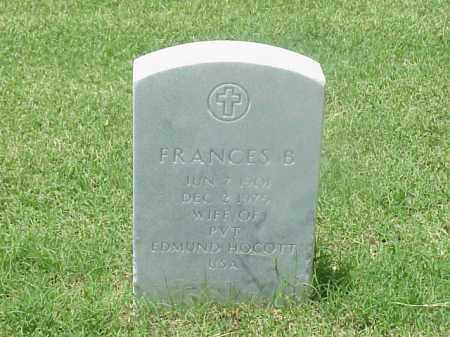 HOCOTT, FRANCES B - Pulaski County, Arkansas | FRANCES B HOCOTT - Arkansas Gravestone Photos