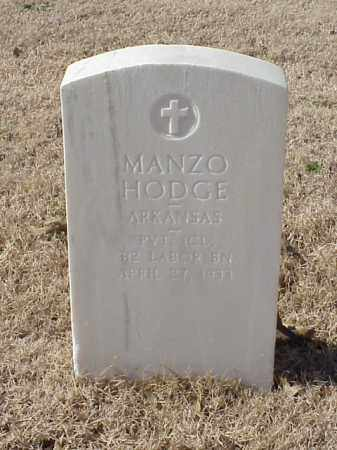 HODGE  (VETERAN WWI), MANZO - Pulaski County, Arkansas | MANZO HODGE  (VETERAN WWI) - Arkansas Gravestone Photos