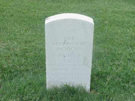 HODGES (VETERAN WWII), PAT HAYWOOD - Pulaski County, Arkansas | PAT HAYWOOD HODGES (VETERAN WWII) - Arkansas Gravestone Photos