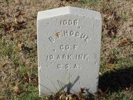 HOGUE  (VETERAN CSA), B F - Pulaski County, Arkansas | B F HOGUE  (VETERAN CSA) - Arkansas Gravestone Photos