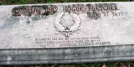 FLETCHER, CHARLIE MAY - Pulaski County, Arkansas   CHARLIE MAY FLETCHER - Arkansas Gravestone Photos
