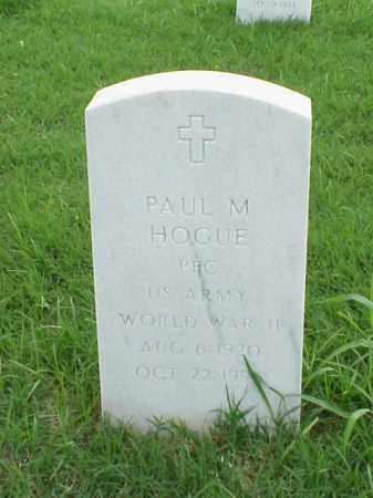 HOGUE (VETERAN WWII), PAUL M - Pulaski County, Arkansas | PAUL M HOGUE (VETERAN WWII) - Arkansas Gravestone Photos
