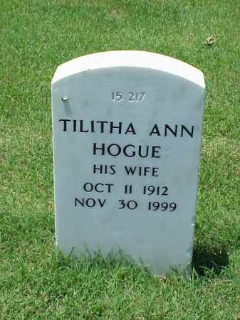 HOGUE, TILITHA ANN - Pulaski County, Arkansas   TILITHA ANN HOGUE - Arkansas Gravestone Photos