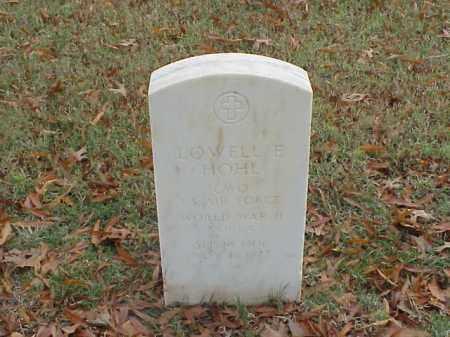 HOHL  (VETERAN WWII), LOWELL E - Pulaski County, Arkansas   LOWELL E HOHL  (VETERAN WWII) - Arkansas Gravestone Photos