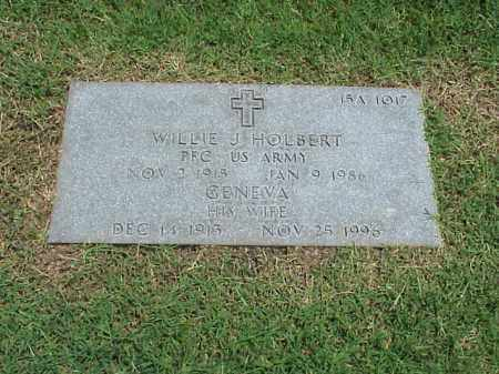 HOLBERT (VETERAN WWII), WILLIE J - Pulaski County, Arkansas | WILLIE J HOLBERT (VETERAN WWII) - Arkansas Gravestone Photos