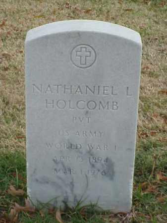 HOLCOMB  (VETERAN WWI), NATHANIEL L - Pulaski County, Arkansas   NATHANIEL L HOLCOMB  (VETERAN WWI) - Arkansas Gravestone Photos