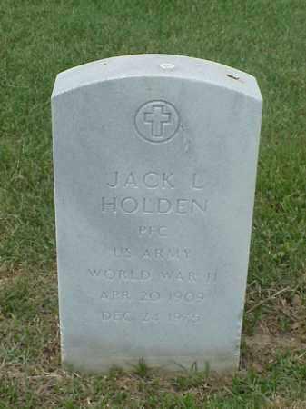 HOLDEN (VETERAN WWII), JACK L - Pulaski County, Arkansas   JACK L HOLDEN (VETERAN WWII) - Arkansas Gravestone Photos