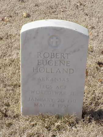 HOLLAND  (VETERAN WWII), ROBERT EUGENE - Pulaski County, Arkansas | ROBERT EUGENE HOLLAND  (VETERAN WWII) - Arkansas Gravestone Photos