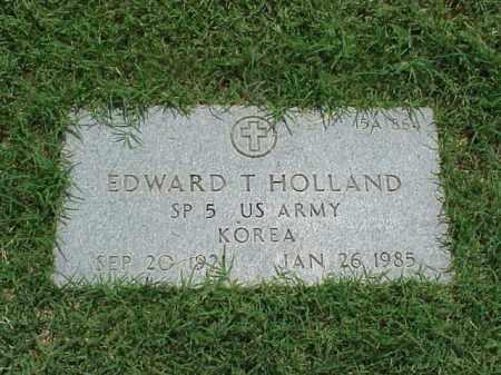 HOLLAND (VETERAN KOR), EDWARD T - Pulaski County, Arkansas | EDWARD T HOLLAND (VETERAN KOR) - Arkansas Gravestone Photos