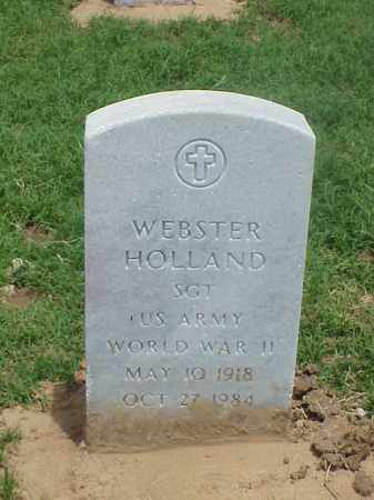 HOLLAND (VETERAN WWII), WEBSTER - Pulaski County, Arkansas | WEBSTER HOLLAND (VETERAN WWII) - Arkansas Gravestone Photos