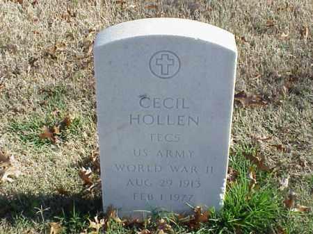HOLLEN  (VETERAN WWII), CECIL - Pulaski County, Arkansas | CECIL HOLLEN  (VETERAN WWII) - Arkansas Gravestone Photos
