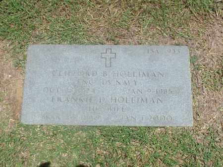HOLLIMAN, FRANNIE D - Pulaski County, Arkansas | FRANNIE D HOLLIMAN - Arkansas Gravestone Photos