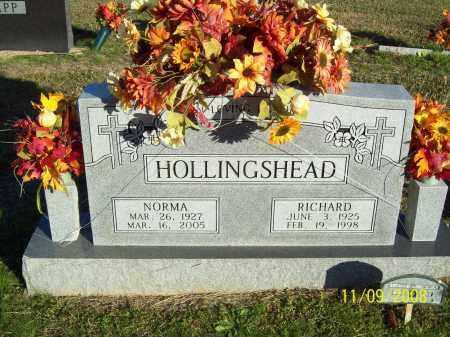 HOLLINGSHEAD, NORMA - Pulaski County, Arkansas | NORMA HOLLINGSHEAD - Arkansas Gravestone Photos