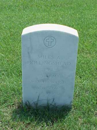 HOLLINGSHEAD (VETERAN WWII), MILES A - Pulaski County, Arkansas | MILES A HOLLINGSHEAD (VETERAN WWII) - Arkansas Gravestone Photos