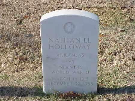 HOLLOWAY  (VETERAN WWII), NATHANIEL - Pulaski County, Arkansas | NATHANIEL HOLLOWAY  (VETERAN WWII) - Arkansas Gravestone Photos
