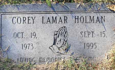 HOLMAN, COREY LAMAR - Pulaski County, Arkansas | COREY LAMAR HOLMAN - Arkansas Gravestone Photos