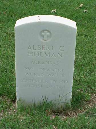 HOLMAN (VETERAN WWII), ALBERT C - Pulaski County, Arkansas | ALBERT C HOLMAN (VETERAN WWII) - Arkansas Gravestone Photos