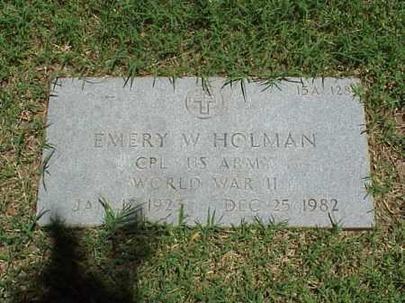 HOLMAN (VETERAN WWII), EMERY W - Pulaski County, Arkansas | EMERY W HOLMAN (VETERAN WWII) - Arkansas Gravestone Photos