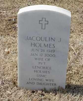 HOLMES, JACQULIN J - Pulaski County, Arkansas   JACQULIN J HOLMES - Arkansas Gravestone Photos