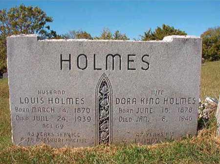 KING HOLMES, DORA - Pulaski County, Arkansas | DORA KING HOLMES - Arkansas Gravestone Photos