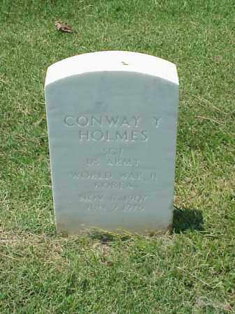 HOLMES (VETERAN 2 WARS), CONWAY Y - Pulaski County, Arkansas | CONWAY Y HOLMES (VETERAN 2 WARS) - Arkansas Gravestone Photos