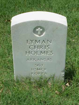 HOLMES (VETERAN KOR), LYMAN CHRIS - Pulaski County, Arkansas   LYMAN CHRIS HOLMES (VETERAN KOR) - Arkansas Gravestone Photos