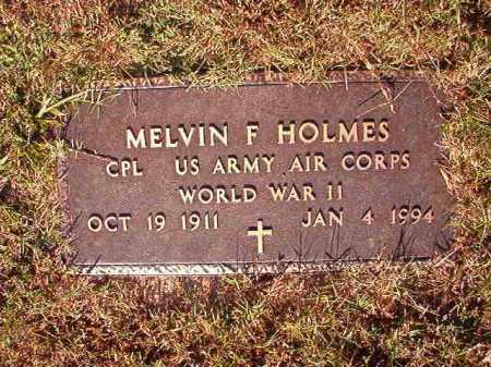 HOLMES (VETERAN WWII), MELVIN F - Pulaski County, Arkansas | MELVIN F HOLMES (VETERAN WWII) - Arkansas Gravestone Photos