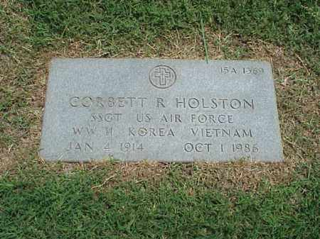 HOLSTON (VETERAN 3 WARS), CORBETT R - Pulaski County, Arkansas   CORBETT R HOLSTON (VETERAN 3 WARS) - Arkansas Gravestone Photos